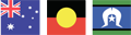 Aboriginal, Australia and Torres Straight Islander flags.